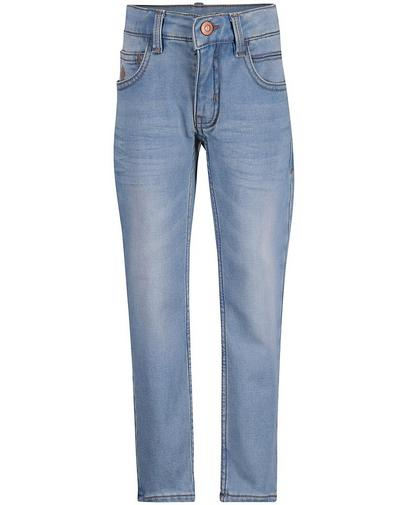 Lichtblauwe slim jeans, sweat denim